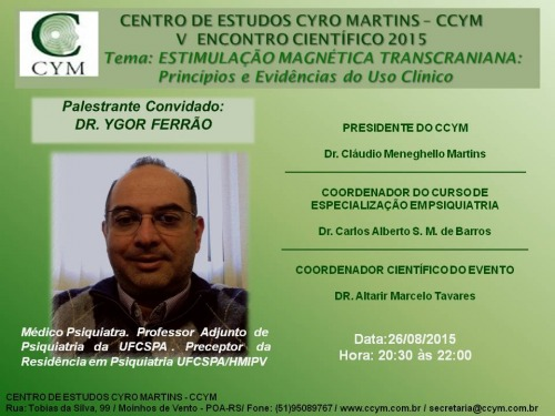 V ENCONTRO CIENTIFICO DO CCYM